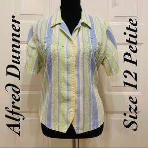 🔥3/$20🔥 Alfred Dunner Shirt Size 12 Petite